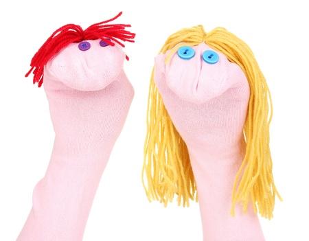 marionetta: Burattini carino isolato su bianco