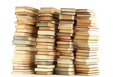 old books isolated on white Stock Photo - 15117281