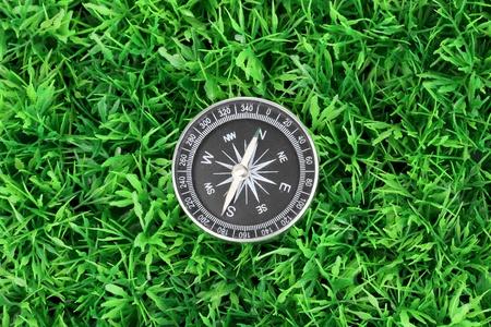 compass on green grass Stock Photo - 15505887