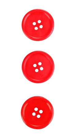 darn: Colorful sewing buttons isolated on white