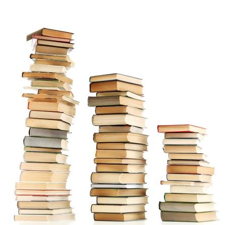 흰색에 고립 된 오래 된 책 스톡 콘텐츠