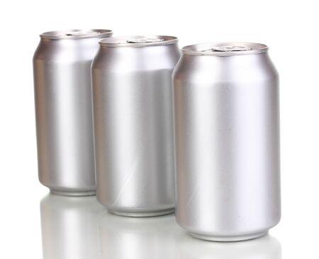 aluminum cans isolated on white photo
