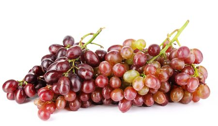 Delicious ripe grapes isolated on white Stock Photo