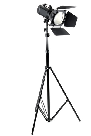 strobe: Studio lighting isolated on white