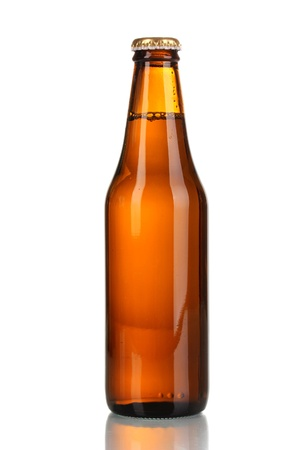 brown bottle: bottle of beer isolated on white