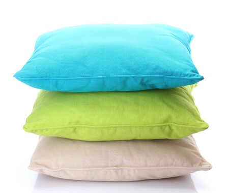 bright pillows isolated on white Stock Photo - 15524244