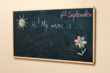 The drawings and inscriptions on the blackboard Stock Photo - 15396003