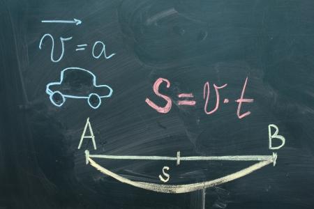 mathematical test on the blackboard Stock Photo - 15395918