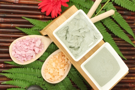 cosmetic clay for spa treatments close-up photo