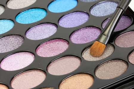 makeup artist: shadow kit with brush for make-up