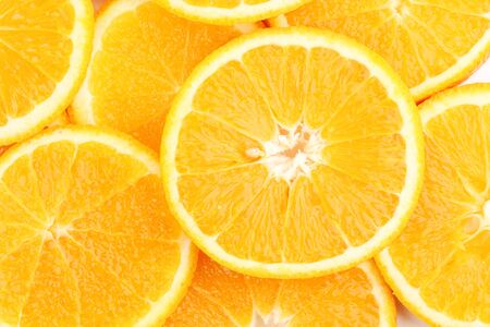 orange slices: Oranges close up