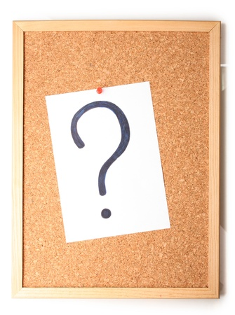 White note with question mark on cork board Stock Photo - 15417111