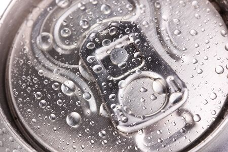 aluminum can close-up photo