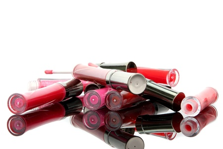 glosses: beautiful lip glosses, isolated on white