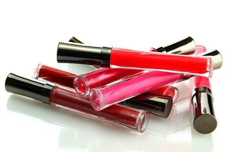 beautiful lip glosses, isolated on white Stock Photo - 15563721