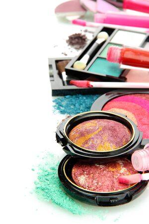 beautiful decorative cosmetics, isolated on white Stock Photo - 15565360
