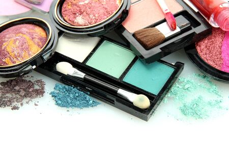 beautiful decorative cosmetics, isolated on white Stock Photo - 15579386