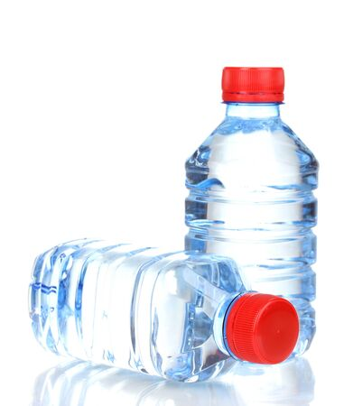 soda bottle: plastic bottles of water isolated on white Stock Photo