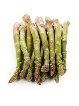 nutritiously: Fresh asparagus isolated on white
