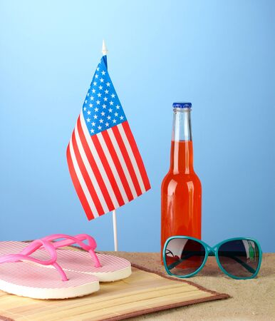 concept of Labor Day in America, on blue background close-up Stock Photo - 15643846