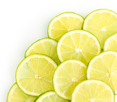 limon: Lime close up isolated on white