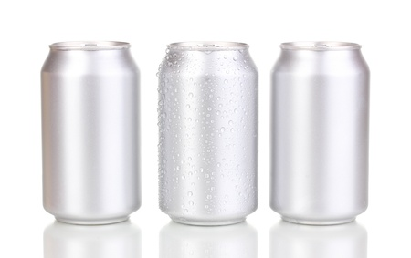 aluminum cans isolated on white Stock Photo - 15725312
