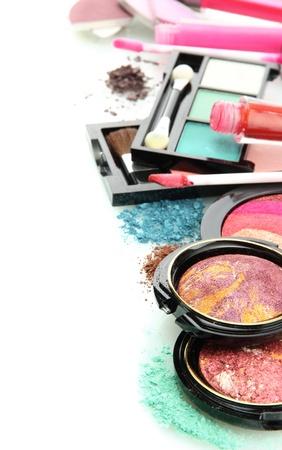 beautiful decorative cosmetics, isolated on white Stock Photo - 15725470
