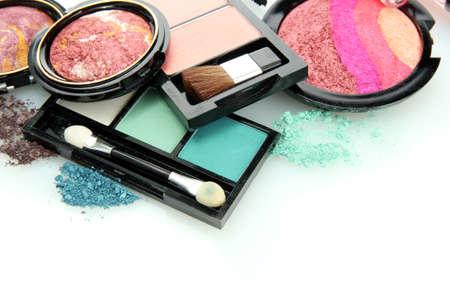 beautiful decorative cosmetics, isolated on white Reklamní fotografie