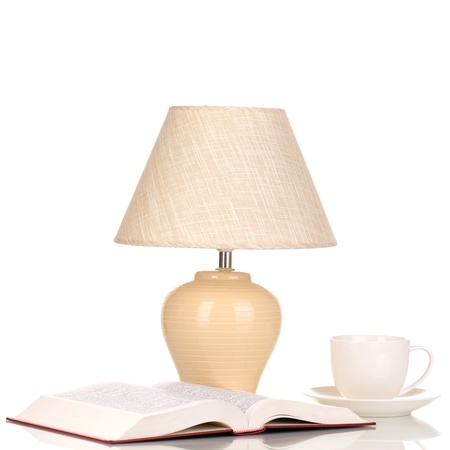 table lamp isolated on white Stock Photo - 15725404