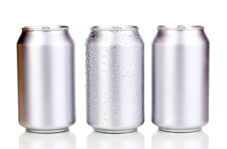 aluminum cans isolated on white Stock Photo - 15747025
