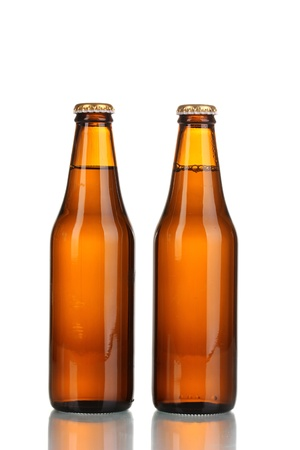 two bottles of beer isolated on white Stock Photo - 15743157