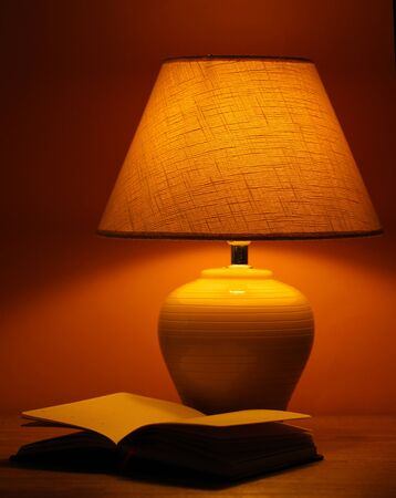 table lamp on brown background Stock Photo - 15747000