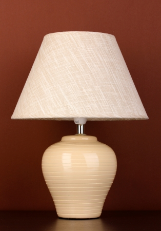 table lamp on brown background Stock Photo - 15747977