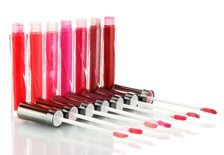 beautiful lip glosses, isolated on white Stock Photo - 15749062