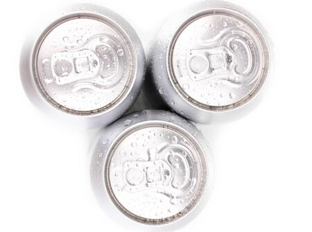 aluminum cans isolated on white Stock Photo - 15937187