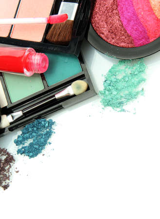 beautiful decorative cosmetics, isolated on white Stock Photo - 15938152