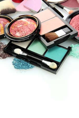 beautiful decorative cosmetics, isolated on white Stock Photo - 15938071