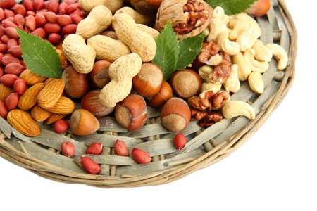 assortment of tasty nuts, isolated on white Stock Photo - 15923910