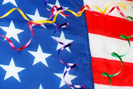 frippery: concept of Labor Day in America, close-up Stock Photo