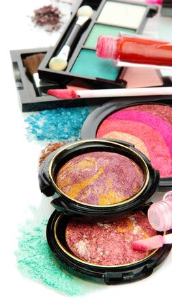 beautiful decorative cosmetics, isolated on white Stock Photo - 16079202
