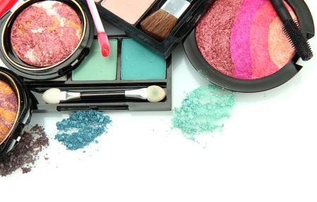 beautiful decorative cosmetics, isolated on white Stock Photo - 16106455