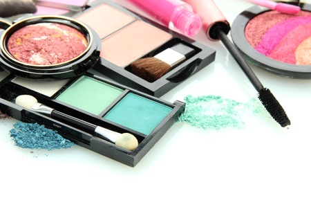 beautiful decorative cosmetics, isolated on white Stock Photo - 16106170