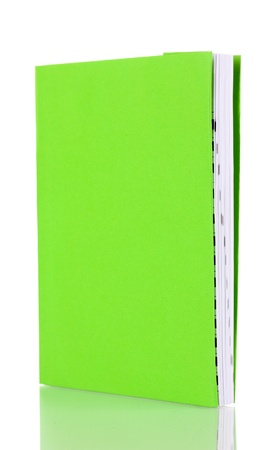Green book isolated on white photo
