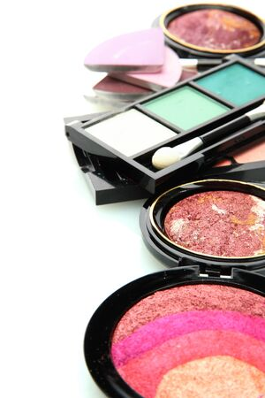 beautiful decorative cosmetics, isolated on white Stock Photo - 16106887