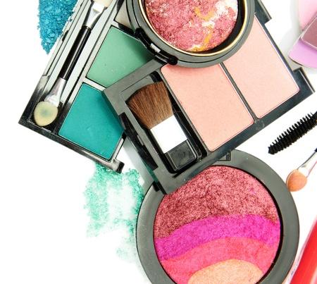 beautiful decorative cosmetics, isolated on white Stock Photo - 16107082