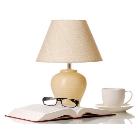 table lamp isolated on white Stock Photo - 16106619