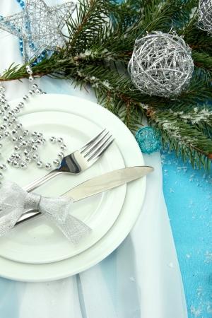 beautiful christmas setting, close up photo