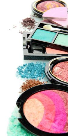 beautiful decorative cosmetics, isolated on white Stock Photo - 16244509