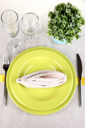 gold flax: Table setting festive table