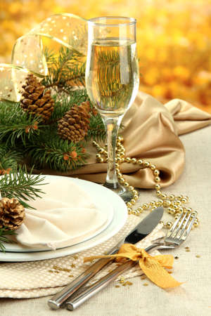 beautiful christmas setting, close up photo
